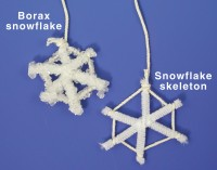 make a snowflake skeleton with pipe cleaners and string