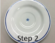 Bubble solution on plate