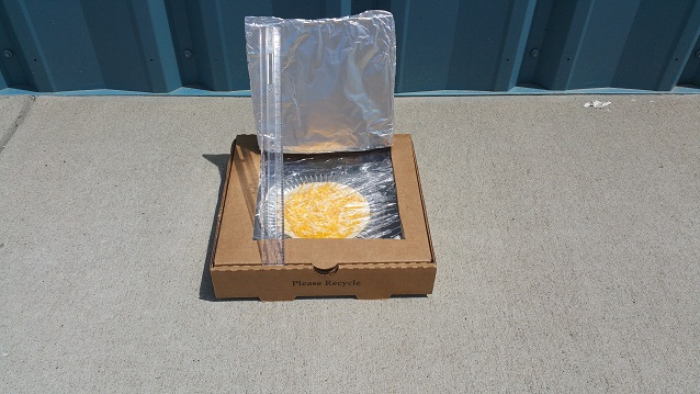 cooking in the solar oven