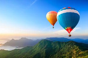 Make a Mini Hot Air Balloon + Air Density